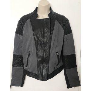 Aeropostale Faux Leather Zip Up Jacket